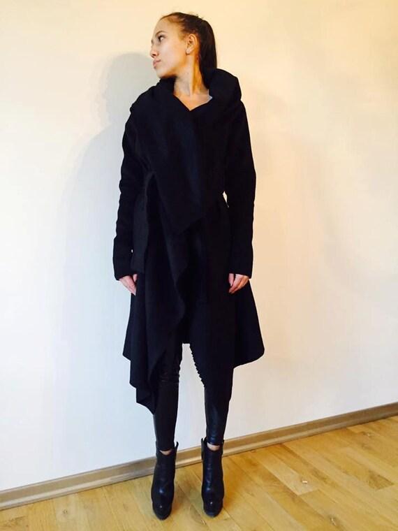 Boho Coat  Black Gardigan  Unique Coat  Black Body Coat  Gift For Her  Veste Extravagante  Black Jacket  Womens Vest  Manteaux