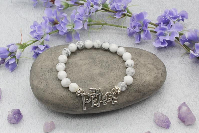 Peace Sign Bracelet Peace Jewelry Peace Bracelet Bracelet with a Peace Charm Peace Symbol | Yoga Bracelet