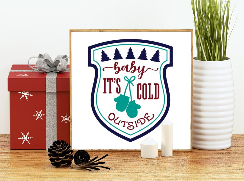 silhouette and other craft machines Christmas Holiday Bundle printable and cut file for cricut Cut or print!