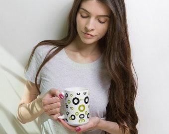 Green & Black Circles Mug