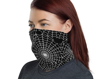 Spider Webs Non Medical Face Cover; Reusable and Washable