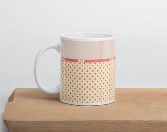 Pink Polka Dots Mug