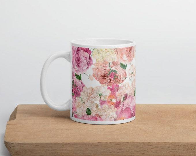 Featured listing image: Pink Flower Mug