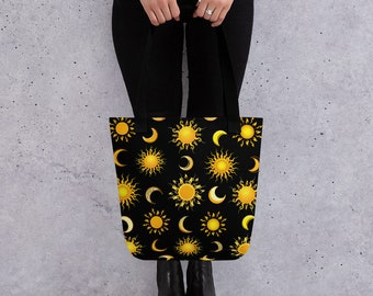 Suns and Moons Celestial Tote Bag