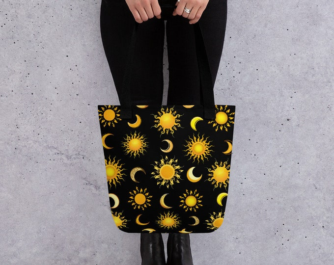 Featured listing image: Suns and Moons Celestial Tote Bag