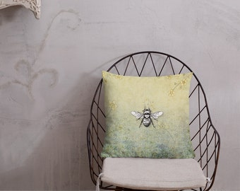 Bumblebee Premium Throw Pillow