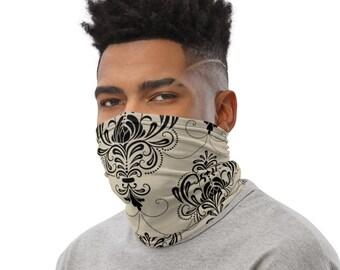 Victorian Damask Neck Gaiter, Face Mask
