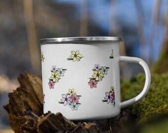 Floral Enamel Camping Mug