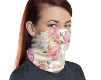 Floral Design, Non Medical Face Cover; Reusable and Washable