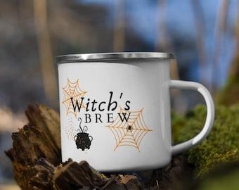 Witch's Brew Enamel Camping Mug