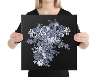 Blue Flower Bouquet Canvas Print