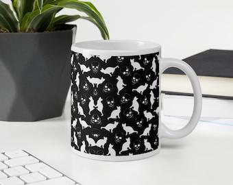 Black and White - Skulls & Cats Mug