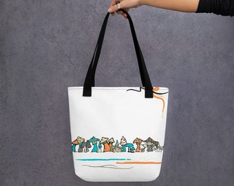 Colorful Mushrooms Tote Bag