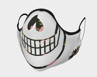 Whimsical Smiling Skull, Cloth Face Mask