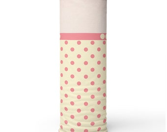 Pink Polka Dots, Non Medical Face Cover; Reusable and Washable
