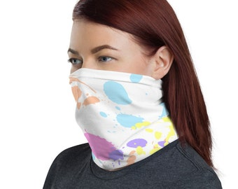 Paint Daubs (2), Non Medical Face Cover; Washable and Reusable