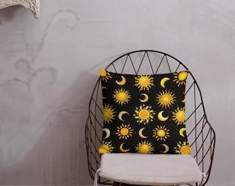Suns & Moons Throw Pillow