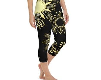 Sun Stars Yoga Capri Leggings