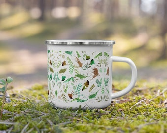 Leaves Enamel Camping Mug