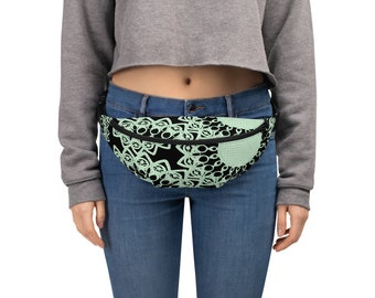 Green Doilies Fanny Pack