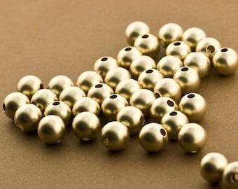 Baby Ball Beads Sandblast Gold Filled 2mm Beads 14kt Gold Filled Tiny Seed Beads 50pc 2mm Gold Matte finish Beads Sandblasted Beads