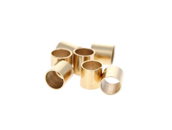14 k GOLD FILLED  1 x 1 MM  TUBE CRIMP BEADS Pkg. Of 100 //