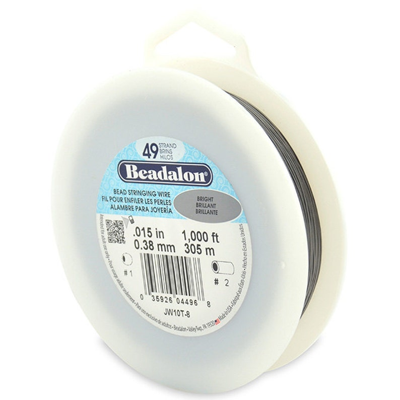 "1000ft Bulk Spool Beadalon BRIGHT .024/"" Bead Stringing Wire 7 Strand Flex Wire"