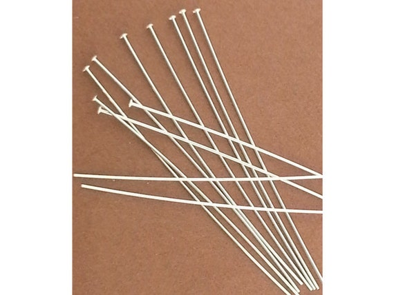 "925 Sterling Silver 24 Gauge 1.5/"" Head Pin 200pcs  #5211-5"