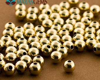 100pc, 5mm Gold Filled Beads, Gold Filled Beads, 5mm Beads, Seamless, 14 karat goldfilled, Made in USA 14/20 14kt