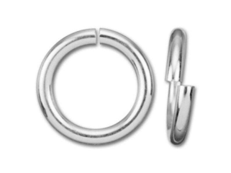 Sterling Silver .925 High Polished Open Ring 5mm 18 gauge Open Jump Rings 10pc