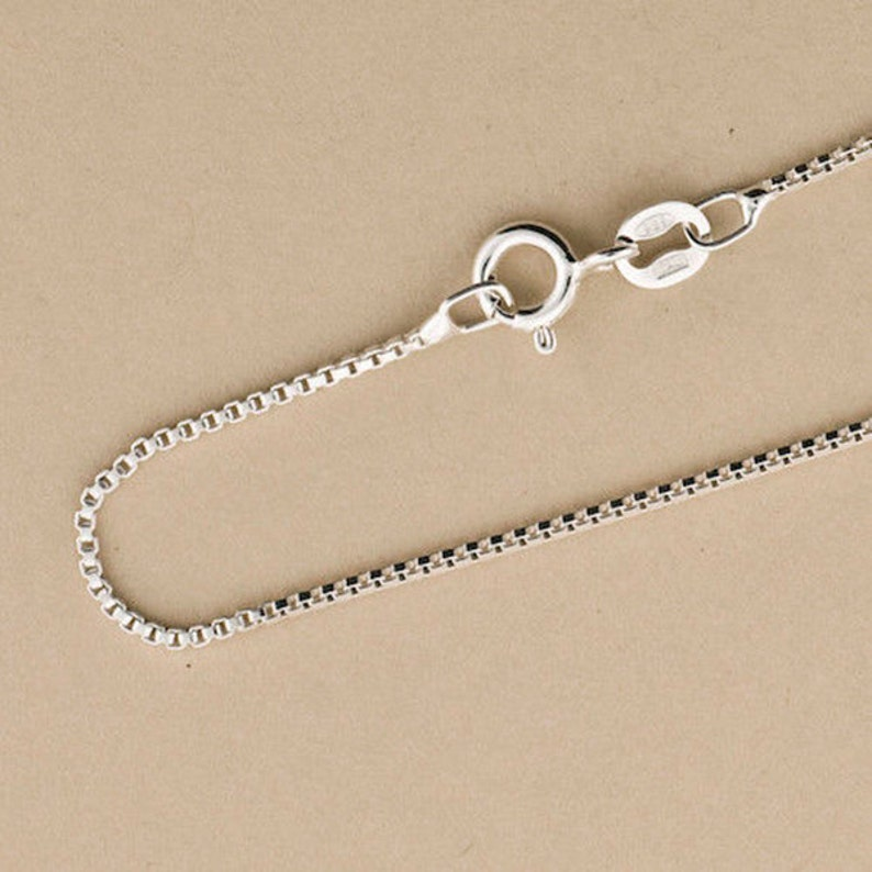 Box Chain 1mm Box Chain Sterling Silver Chain .925 Sterling image 0