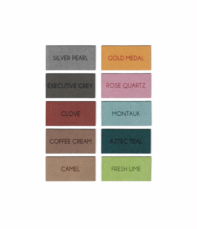 Faux Suede Patches 1.75 Inch Square Patches