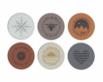 2 Inch Round Patches - Faux Leather Patches