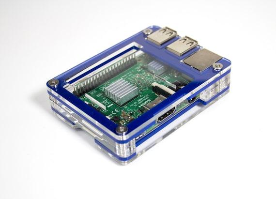 3 Zebra Wood Case - for Raspberry Pi 3B+ with power supply Pi 2  and Pi B+