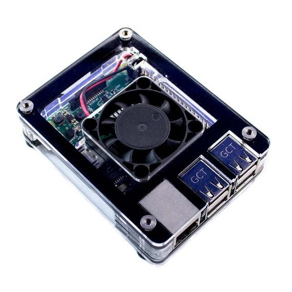 C4Labs 3B+ Black Ice Zebra Inlay Fan Case - for Raspberry Pi 4B