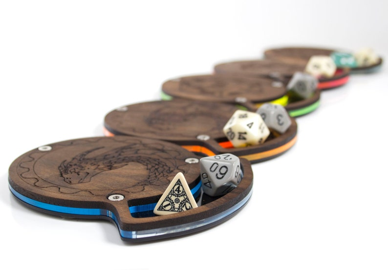 Solid Walnut Top Dice Coasters in 4 styles and 5 Colors image 0