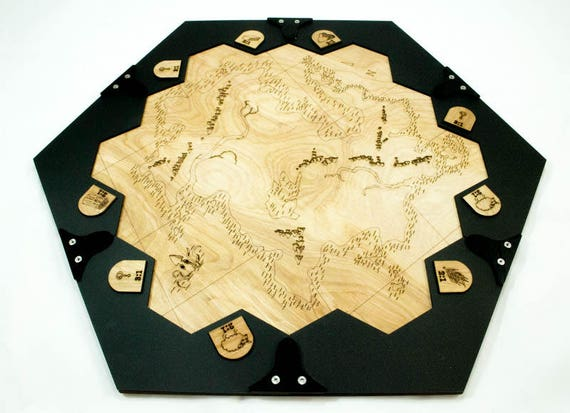 A Table And Frame For Settlers Of Catan The Unexplored Etsy