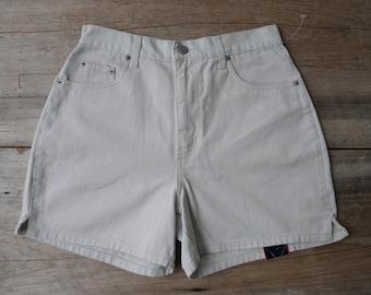 Cream denim shorts Etsy  Etsy
