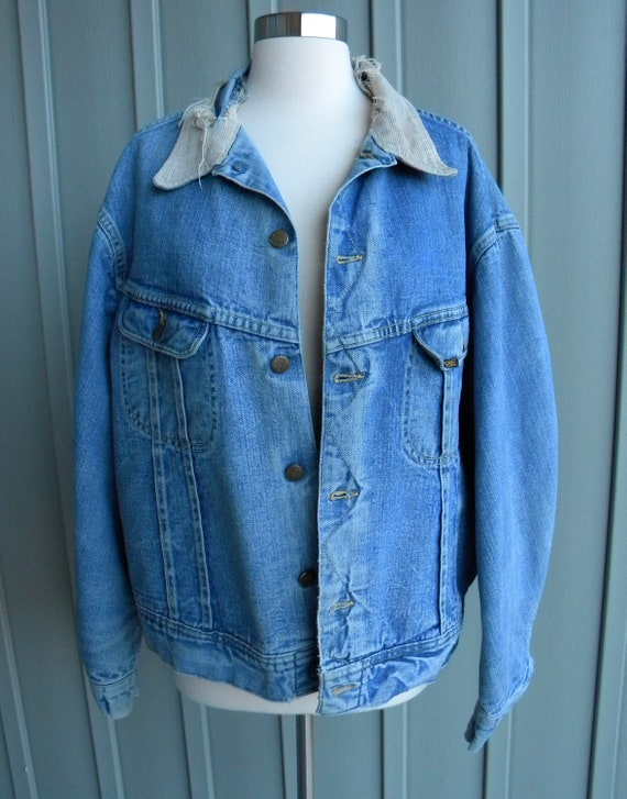70's Vintage Lee Storm Rider Jacket  / Blanket Lin