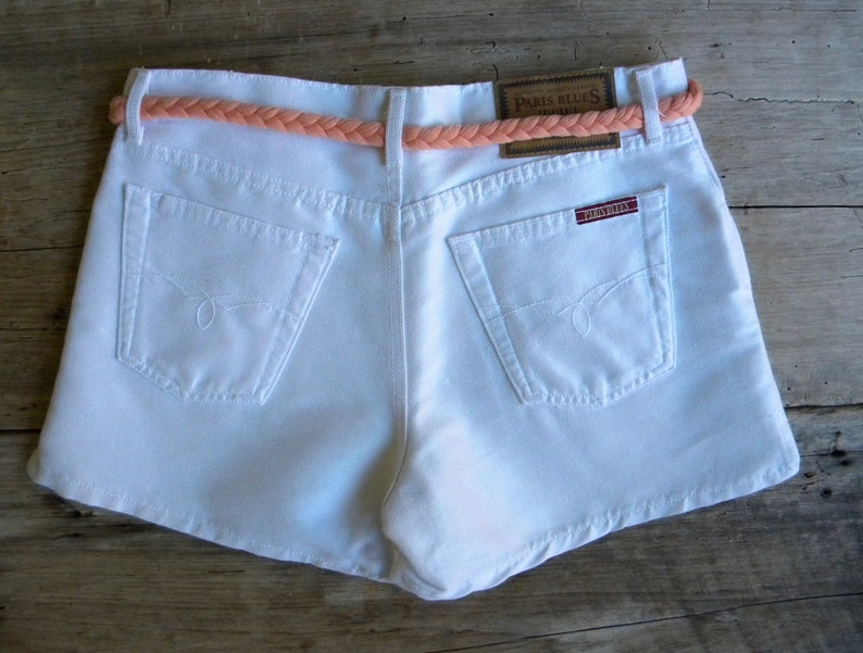 Size 31 Vintage White Denim Shorts  Paris Blues  New Old Stock  Made in USA  90/'s Denim Shorts  31 inch Waist