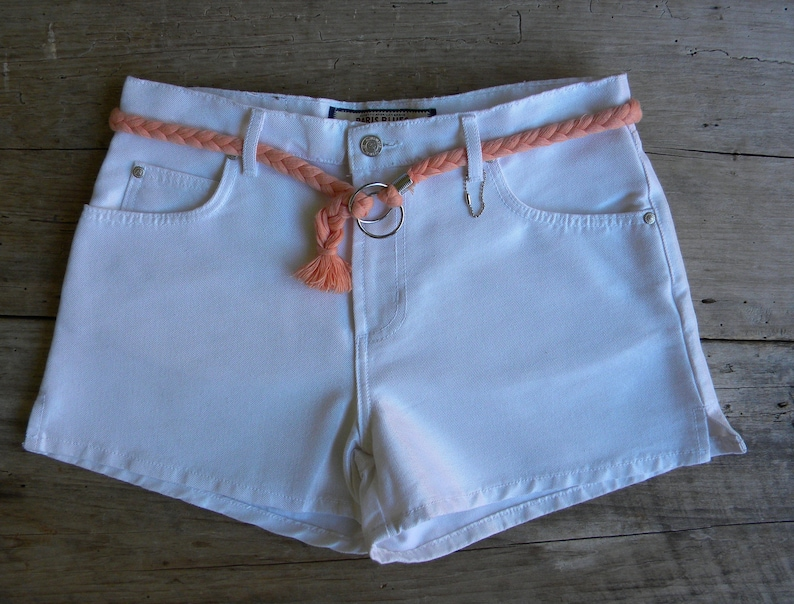 a6fa34a2bb Size 31 Vintage White Denim Shorts / Paris Blues / New Old | Etsy