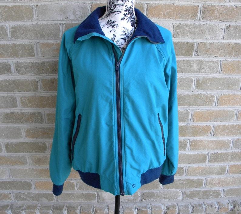 a4b148c435 Vintage Woolrich Teton Emerald Green Jacket with Fleece Lining