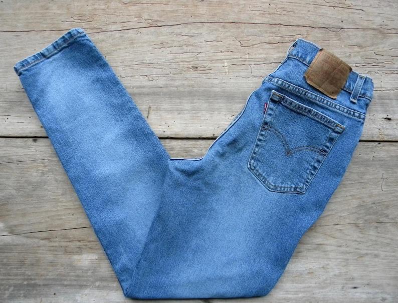 53b3fc3ff6a Size 30 Vintage Levi's Denim Jeans / Levi's 512 Slim   Etsy
