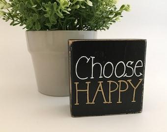 Choose Happy Wood Sign, Mini Wood Sign