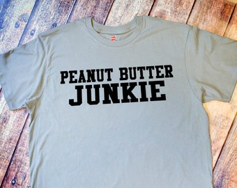 Gym Shirt - Peanut Butter Junkie - Vintage Gray Tee