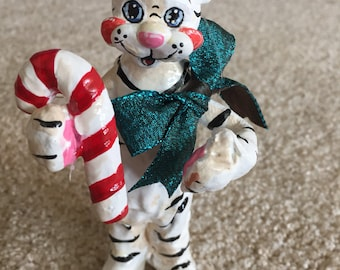 White Tiger Christmas Ornament And Cake Topper