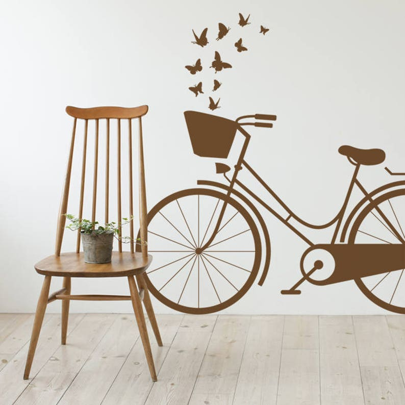 vintage dutch bike wall decal bicycle wall decal wall | etsy