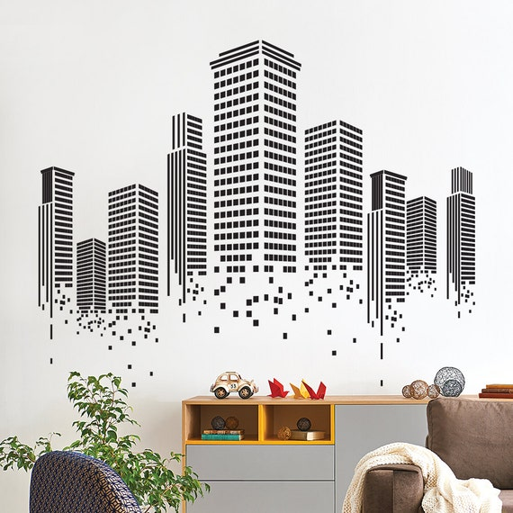 urban wall sticker office wall decal wall graphics vinyl | etsy