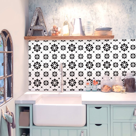 Victorian Kitchen Bathroom Backsplash Vinyl Tile Decals Etsy