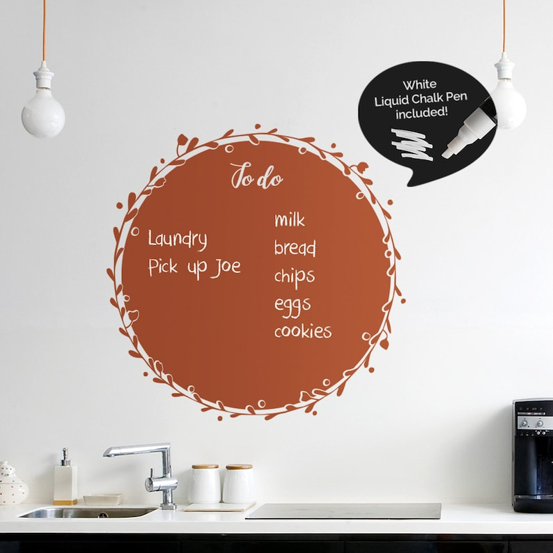 Write and Erase Weekly Calendar Weekly Planner Chalk Pen Included Calendar Vinyl Wall Sticker